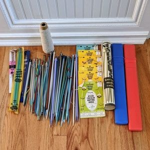 Bundle of Assorted Knitting Needles